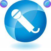 Microphone web button — Wektor stockowy