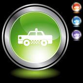 Taxi web button — Stock vektor
