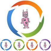 Robot web icon — Stock Vector