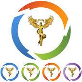 Chiropractic Symbol web icon — Stock Vector