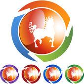 Horse icon web icon — Stock Vector
