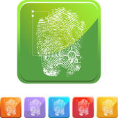 Thumbprint web icon — Stock Vector