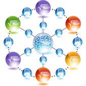 Square Root web button — Vettoriale Stock