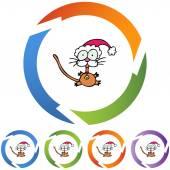 小猫在圣诞老人的帽子 — 图库矢量图片