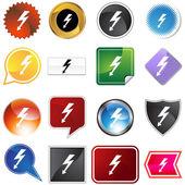 High Voltage Icon Set — Stock Vector