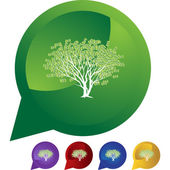 Money tree web icon — Stok Vektör