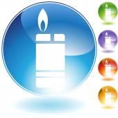 Cigarette Lighter Crystal Icon — Stock Vector