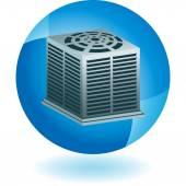 Air Conditioner web icon — Stock Vector