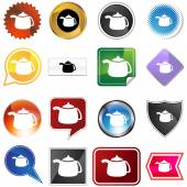 Teapot variety icon — Stock Vector