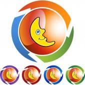 Crescent Moon web icon — Stock Vector