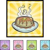 Pancake web button — Stok Vektör