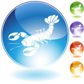 Lobster crystal icon — Stock Vector