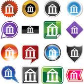 Icona web banca — Vettoriale Stock