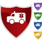 Paramedics web icon — Stock Vector