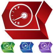 Fuel indicator web icon — Vetor de Stock