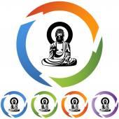 Buddha web icon — Cтоковый вектор