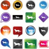 Chinese zodiac sign animal — Stock Vector