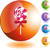 Lollipop candy icon — Stock Vector