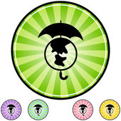 Comprehensive Insurance web icon — Stock Vector