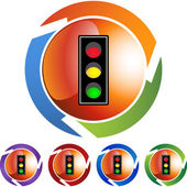 Traffic Light web button — Stock Vector