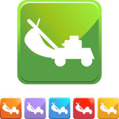 Lawn Mower web icon — Stock Vector