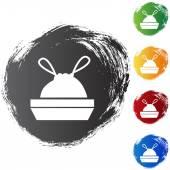 Trash Bag icon button — ストックベクタ