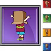 Box Boy web icon — Stock Vector