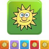 Sun web icon — Stock Vector
