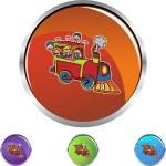 Train Ride web icon — Stock Vector #64170083
