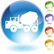 Cement Truck Crystal Icon — Stock Vector #64172219
