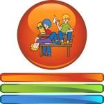 Juveniles web icon — Stock Vector #64172351