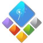 Dandelion web icon — Stock Vector #64172683