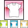 Wit Shirt pictogram — Stockvector  #64172817