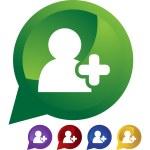 Add Friend web button — Stock Vector #64174625