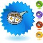 Bacon Egg Pan web icon — Stock Vector #64174985