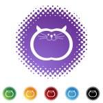 Fat Cat web button — Stock Vector #64175765