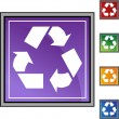 Recycling symbol web button — Stock Vector #64177407