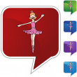 Ballerina Girl web icon — Stock Vector #64177887