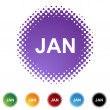 January web button — Stock Vector #64179609
