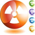 Radioactive Warning  web icon — Stock Vector #64179765