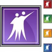Couple Dancing web button — Vettoriale Stock