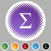 Icono de símbolo griego fraternidad — Vector de stock