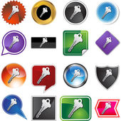 Generic Key web icon — Stock Vector