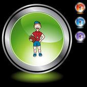 Coach web icon — Stock Vector