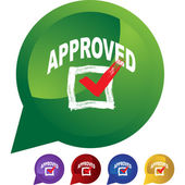 Approved web icon — Stock Vector