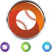 Baseball Web button set — Stock vektor