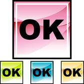 Okay web icon — Stock Vector