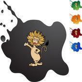 Lion web icon — Stock Vector