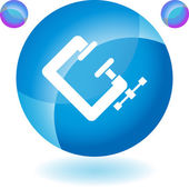 Clamp Tool button — Stock Vector