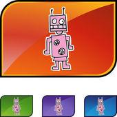 Ikona webového robota — Stock vektor